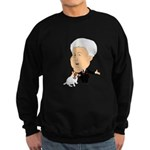 Clinton Petting A Jack Russel Sweatshirt (dark)