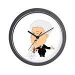 Clinton Petting A Jack Russel Wall Clock