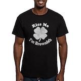 Brownish Fitted Dark T-Shirts