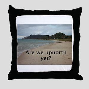 Lake Michigan shoreline Throw Pillow