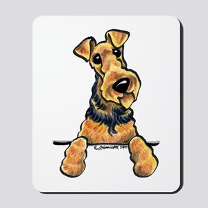 Welsh Terrier Paws Up Mousepad