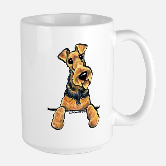 Welsh Terrier Paws Up Large Mug