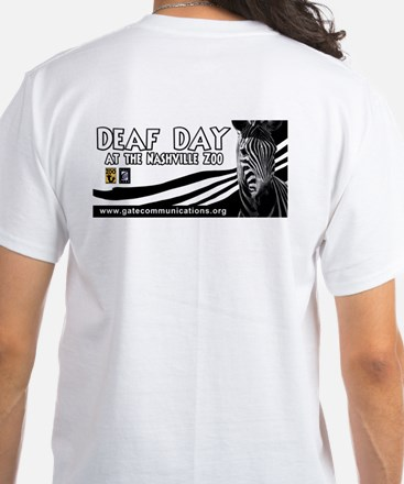 Deaf Day at the Zoo White T-Shirt