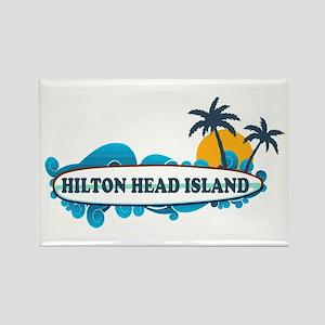 Hilton Head Island SC - Surf Design Rectangle Magn