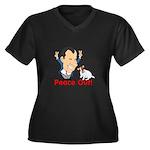 President Nixon and JRT Peace Women's Plus Size V-