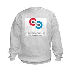 Cyber Sprocket Logo Kids Sweatshirt