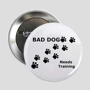 Bad Dog Paws Needs Training Button