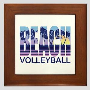 Beach Volleyball Framed Tile