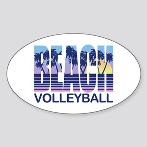 Beach Volleyball Sticker (Oval)