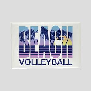 Beach Volleyball Rectangle Magnet