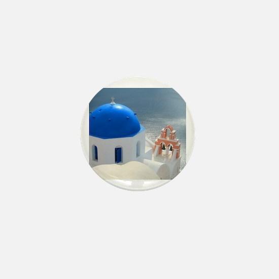 Cute Greek islands Mini Button
