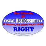 Fiscal Responsibility Sticker (Oval 10 pk)