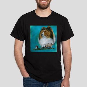 Sheltie Sable Herding Dark T-Shirt