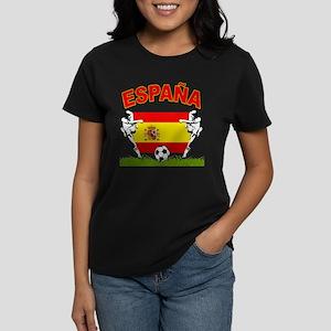 Spainish Soccer Women's Dark T-Shirt