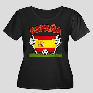 Spainish Soccer Women's Plus Size Scoop Neck Dark