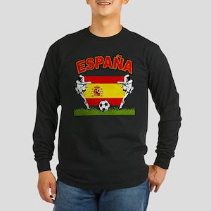 Spainish Soccer Long Sleeve Dark T-Shirt
