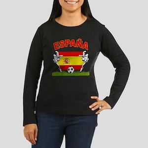 Spainish Soccer Women's Long Sleeve Dark T-Shirt