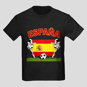 Spainish Soccer Kids Dark T-Shirt