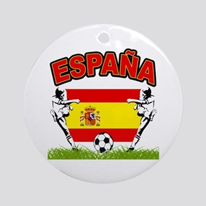 Spainish Soccer Ornament (Round)