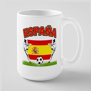 Spainish Soccer Large Mug