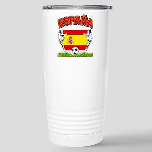Spainish Soccer Stainless Steel Travel Mug