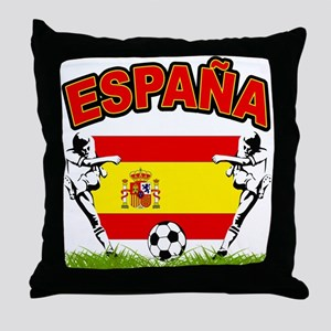 Spainish Soccer Throw Pillow