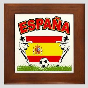 Spainish Soccer Framed Tile