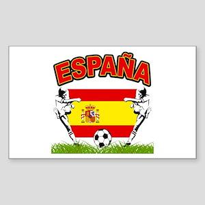 Spainish Soccer Rectangle Sticker