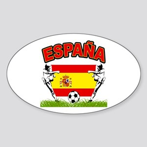 Spainish Soccer Oval Sticker