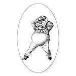 Mad Tweedle Dee Sticker (Oval 10 pk)