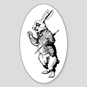 White Rabbit Sticker (Oval)