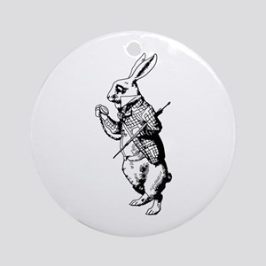 White Rabbit Ornament (Round)