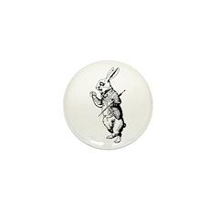 White Rabbit Mini Button (100 pack)