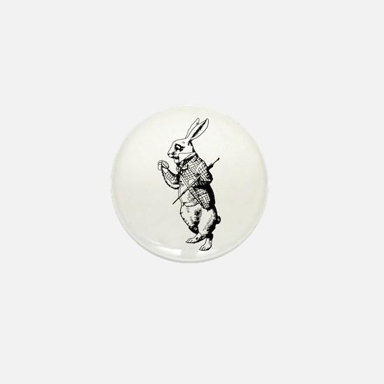 White Rabbit Mini Button