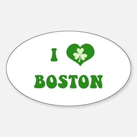 I Love Boston Sticker (Oval)