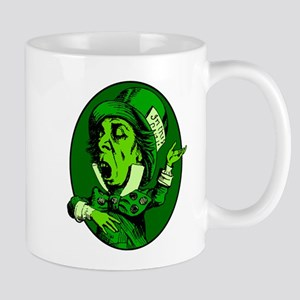 Mad Hatter Oval in Green Mug