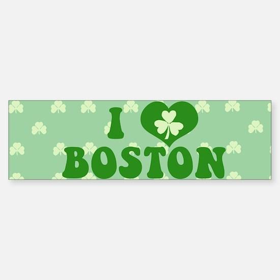 I Love Boston Sticker (Bumper)