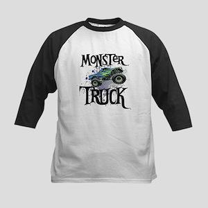 Monster Truck Kids Baseball Jersey