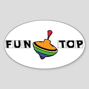Fun Top Oval Sticker