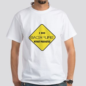 """Back Flips"" White T-Shirt (Child - 4X)"
