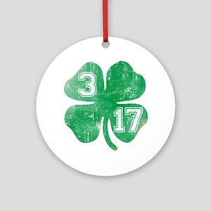 St Patricks Day 3/17 Shamrock Ornament (Round)