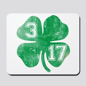 St Patricks Day 3/17 Shamrock Mousepad