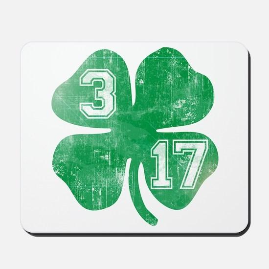 St Patricks Day 3/17 Shamrock Mousepad