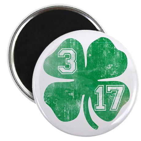 "St Patricks Day 3/17 Shamrock 2.25"" Magnet (10 pac"
