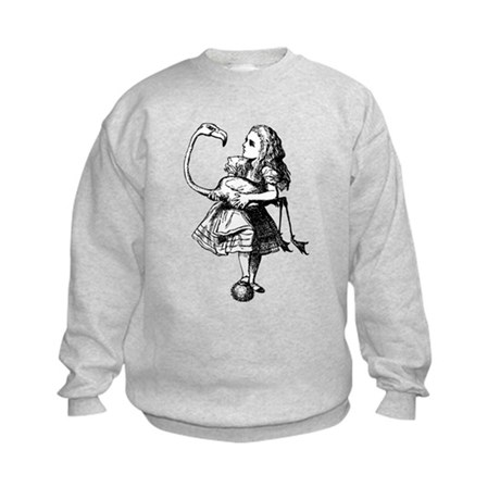 Alice and Flamingo Kids Sweatshirt