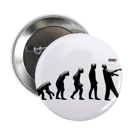 "Evolution of The Zombie 2.25"" Button"