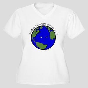 Cranky Planet Women's Plus Size V-Neck T-Shirt