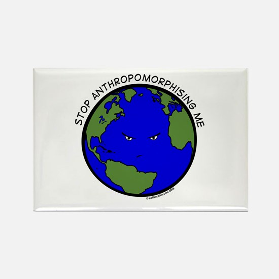 Cranky Planet Rectangle Magnet