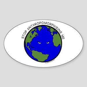 Cranky Planet Sticker (Oval)