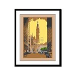 Philadelphia Baseball Framed Panel Print